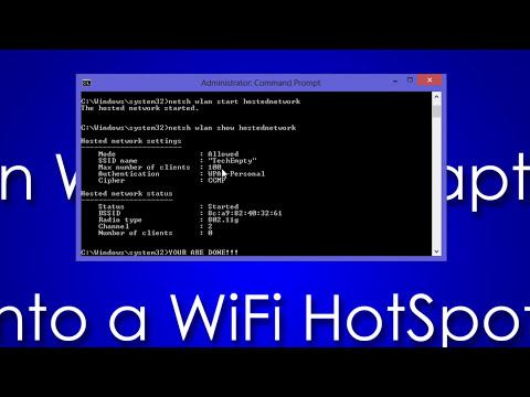 Turn Windows 8 Laptop into WiFi HotSpot [How To]