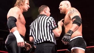 Goldberg vs triple h best match wwe