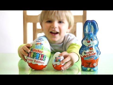 Kinder Surprise BIG Egg vs Kinder Surprise Bunny