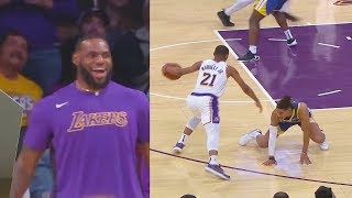 LeBron James Embarrasses Warriors' Jordan Poole Some More After He's Ankle Broken By Zach Norvell!