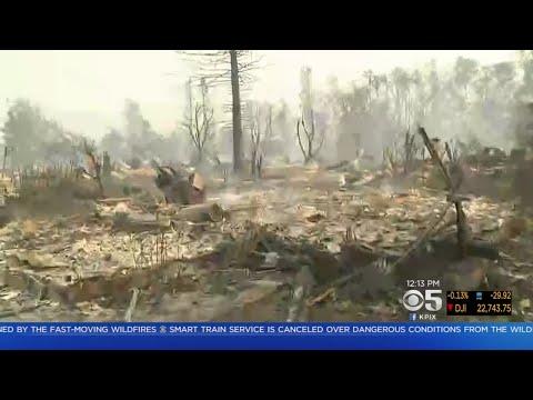 Wildfire Reduces Whole Santa Rosa Neighborhood To Rubble