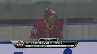 Alshevsky gets minor penalty while attempting the penalty shootout