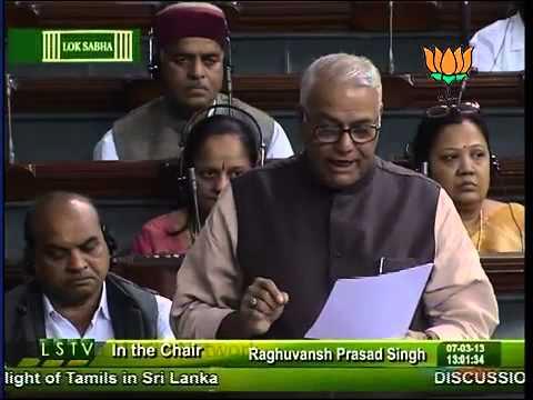 BJP leader Yashwant Sinha speech on the plights of tamils in Srilanka Part 02