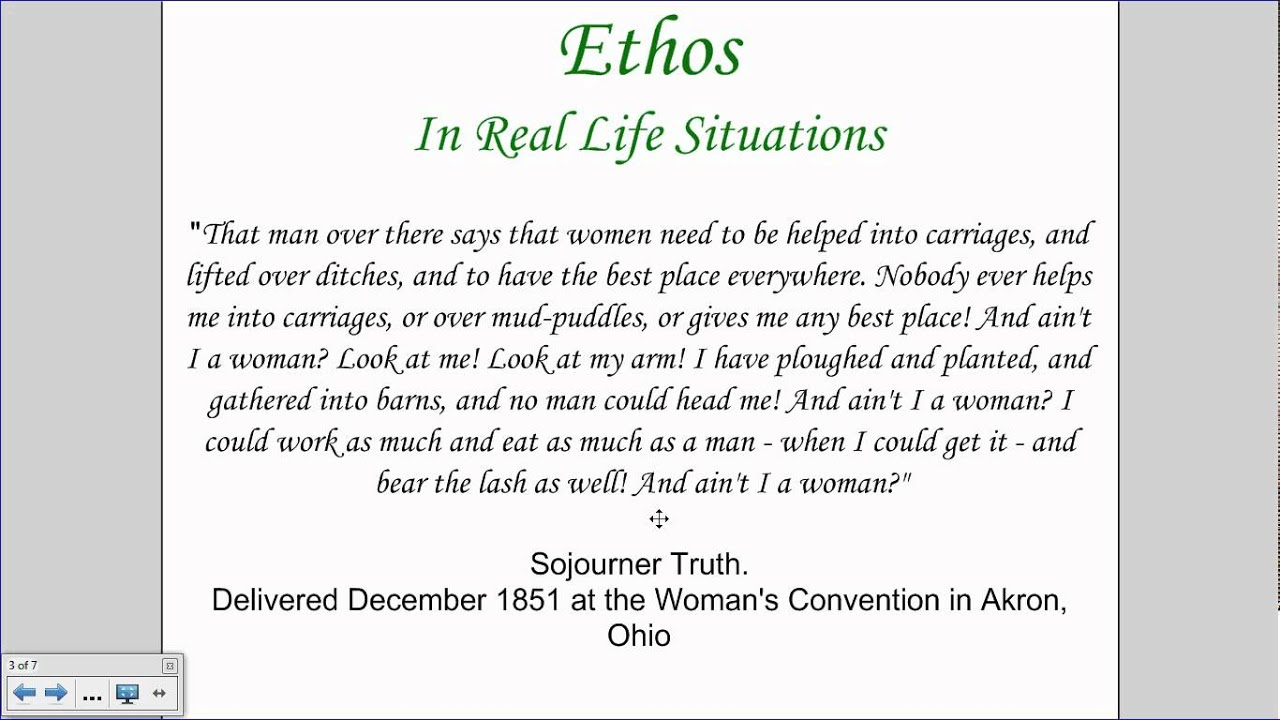 example of ethos in writing A concise definition of ethos along with usage tips, an expanded explanation, and lots of examples.