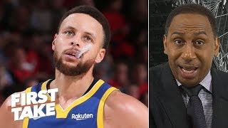 Steph Curry doesn't deserve an All-NBA 1st team spot as much as Harden - Stephen A. | First Take