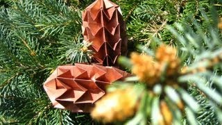 Origami  Pinecone  Tannenzapfen
