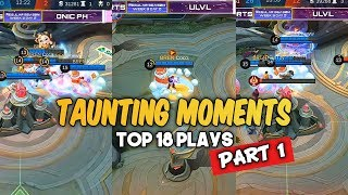 TOP 18 TAUNTING MOMENTS PART 1