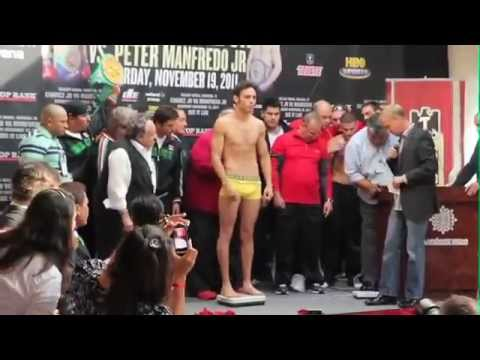 Julio Cesar Chavez jr  weigh-in