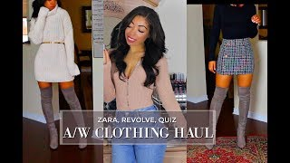 FALL & WINTER CLOTHING HAUL | ZARA, REVOLVE, QUIZ