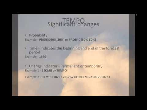 How to read a Terminal Aerodrome Forecast (TAF)