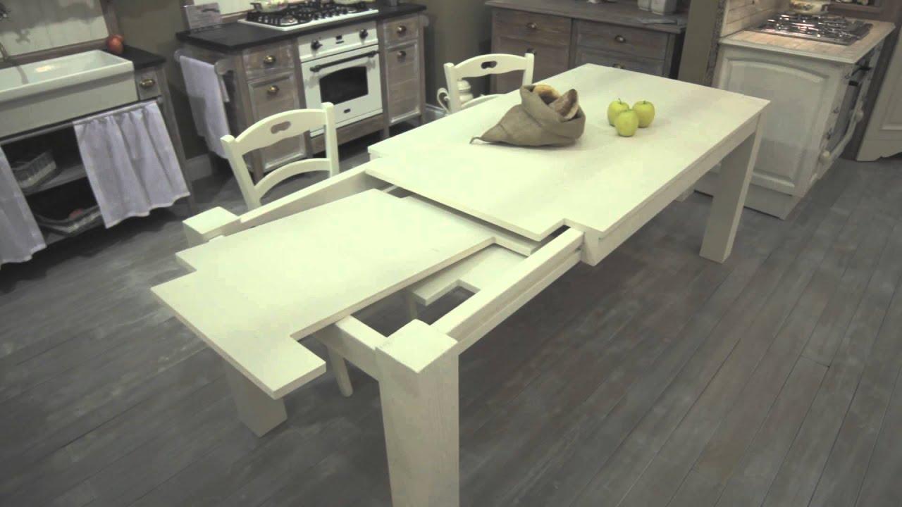 Tavolo in legno allungabile l 39 arte di mastro geppetto for Tavolo di legno allungabile