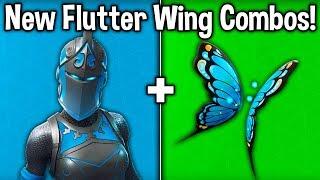 "BEST ""FLUTTER WING"" SKIN + BACKBLING COMBOS! (New Best Wings Backbling in Fortnite)"