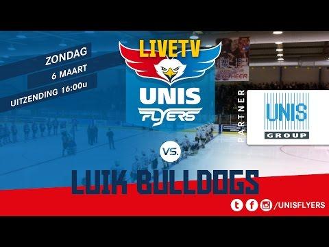 Livestream ijshockey wedstrijd Unis Flyers - Luik Bulldogs 6 maart 2016