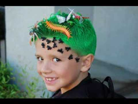 crazy hair day ideas for boys - YouTube