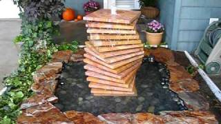 Indian Rainbow Sandstone Water Fountain by Creative Cascades