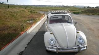 65 VW Bug sunroof with rack on it