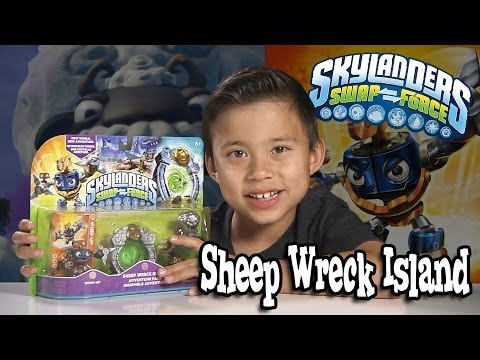 SHEEP WRECK ISLAND Adventure Pack - Skylanders SWAP FORCE Unboxing & Review!