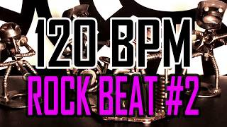 120 BPM - Rock Beat #2 - 4/4 Drum Beat - Drum Track