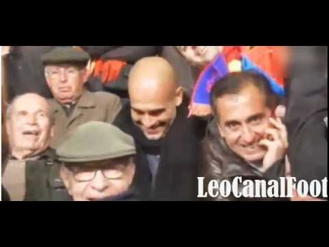 Guardiola, entrenador del Bayern y un seguidor culé que vibra con el Barça