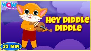 Hey Diddle Diddle   Poems For Kids   Nursery Rhymes Compilation   Wow Kidz Rhymes