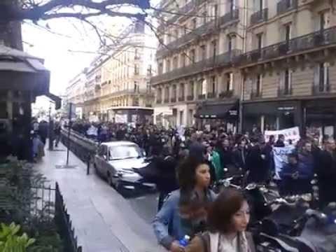 Marche des Algériens à Paris 22 Mars 2014...Non au 4ème mandat de BOUTEFLIKA!