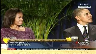 Jackie Evancho At National Prayer Breakfast Feb 2 2012 Singing To Believe.mp4