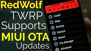 Flash Custom Recovery Without Breaking OTA Update of Miui | Redwolf TWRP Recovery | Hindi - हिंदी