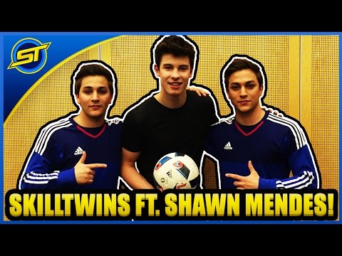 SkillTwins ft. Shawn Mendes - Learning Football Skills & Having Fun! ★