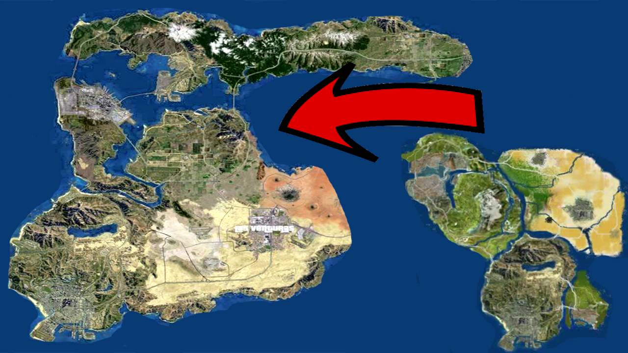 Gta 5 New Map Expansion Gameplay Dlc Leaked Map