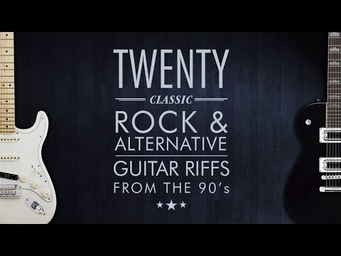 20 Rock Guitar Riffs From The 90s (Fender Stratocaster / Gretsch Pro Jet / Guitar Rig 5)