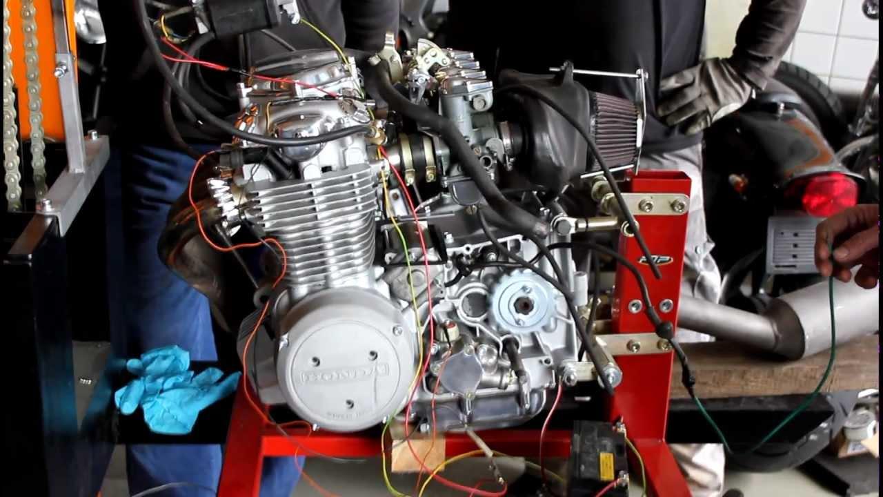 Honda Cb 550 F Engine First Start After Rebuild By Pjp Motocykle