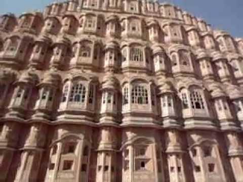 Hawa Mahal, Jaipur Tourist Destination in Jaipur Pink City - India Historical Monuments Travel Video