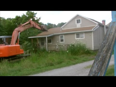 Demolition of House in Rittman, Ohio July 2017