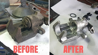Brake calipers rebuild Honda - Reconditionare completa etrieri frana