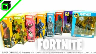 All FORTNITE action figures COMPETE SET McFarlane Toys (7 inch figures)