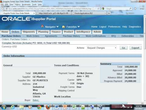 Oracle Services Procurement Fundamentals Training - Lesson 5.7 - Suppliers View after Milestone1