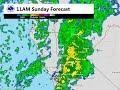 Rain forecast for 12/13/15 based on HRRR