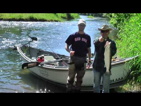 Summer steelhead fishing at the Siletz River, Oregon