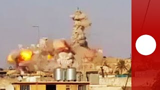 Video: Massive explosion as ISIS destroys Jonah's Tomb in Mosul