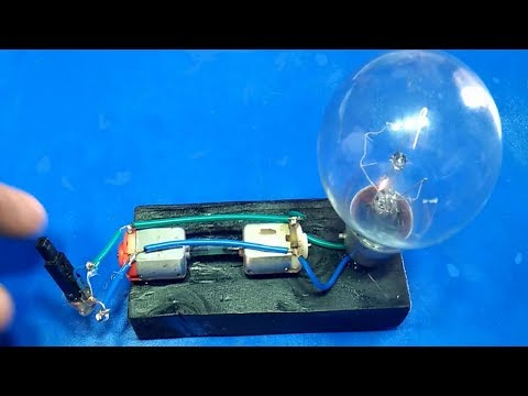 Free Energy Device Light Bulbs 220V Using Piezo Igniter with 2 Motor 2018 project exhibition thumbnail