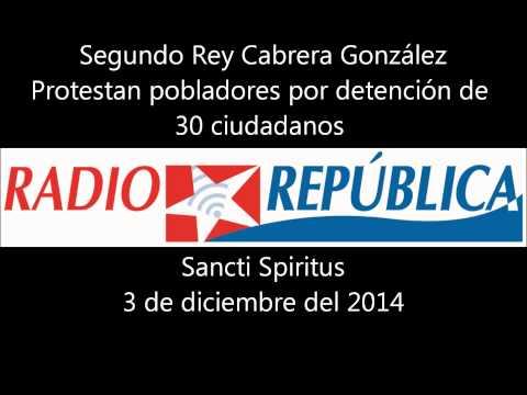 Protestan pobladores de Sancti Spiritus contra detención de cuentapropistas
