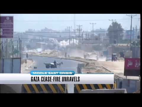 Cease-fire between Israel and Hamas unravels in Gaza