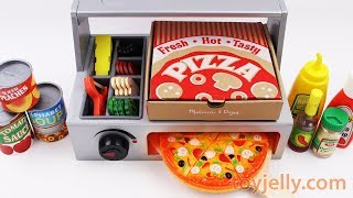 How to Make Play Doh Pizza with Velcro Cutting Toy and Kinder Surprise Eggs Fun for Kids