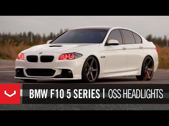 "BMW F10 5 Series 550i on 20"" Vossen VVS-CV3 Concave Wheels ..."