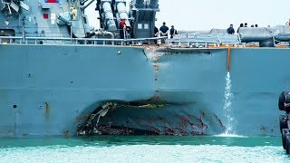 Second Navy Destroyer Collides At Sea