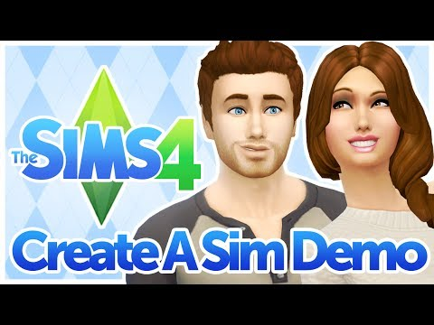 The Sims 4 - Create A Sim / CAS Demo Gameplay - No Commentary - 1080P HD