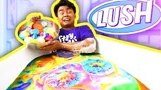 EVERY LUSH BATH BOMBS BATH CHALLENGE!