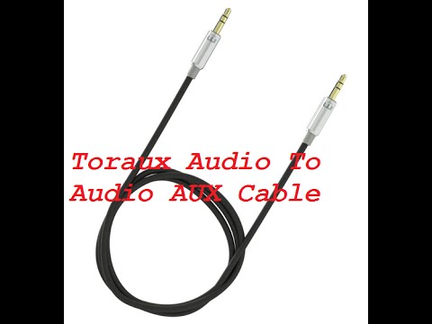 CABLE AUXILIAR DE AUDIO (Toraux Audio To Audio AUX Cable)