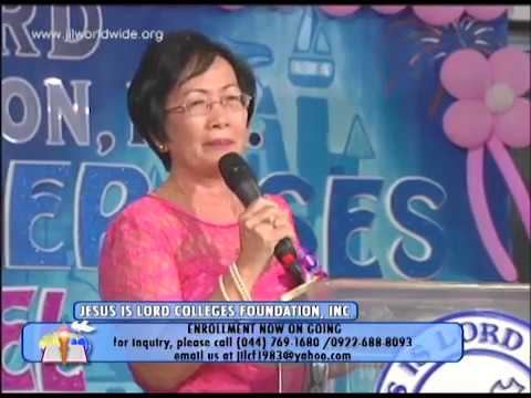 Jesus Is Lord Colleges Foundation Preparatory Graduation 2014