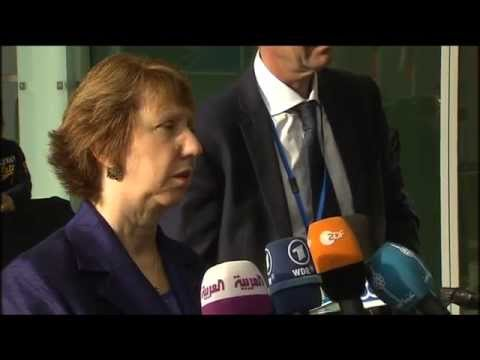 Catherine Ashton Arrival and Doorstep - Foreign Affairs Council October 2014